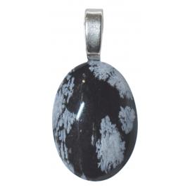 Pendentif obsidienne moucheté