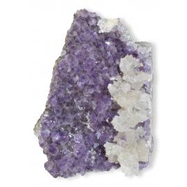 Amas d' Améthyste avec cristaux de Calcite