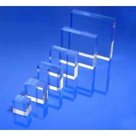 Socle plexiglas carré 100x100x20 mm