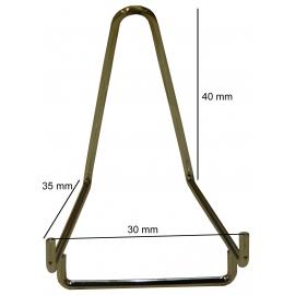 Chevalet métallique chromé, largeur de 30 mm à l'unité