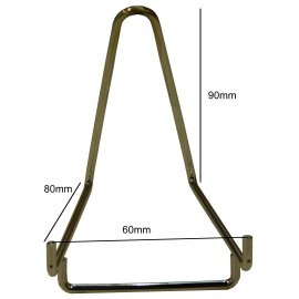 Chevalet métallique chromé Base de 60 mm à  l'unité