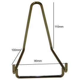 Chevalet métallique chromé Base de 80 mm à l'unité