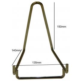 Chevalet métallique chromé Base de 135 mm à l'unité.