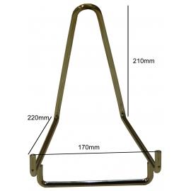 Chevalet métallique chromé Base de 170 mm à l'unité.