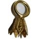 Clochette en argent dorée avec anneau monté, paquet de 10 pièces
