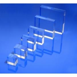 Socle plexiglas rectangulaire 75x120x20 mm