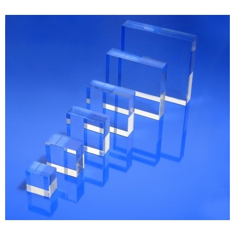 Socle plexiglas carré 80x80x20 mm