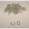 Anneaux ovales en métal argenté ou doré