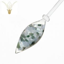 Mélange « moment présent » (opale laiteuse -calcédoine - agate mousse)