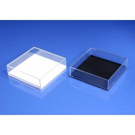 Boite plastique Jousi fond noir 82x82x37 mm