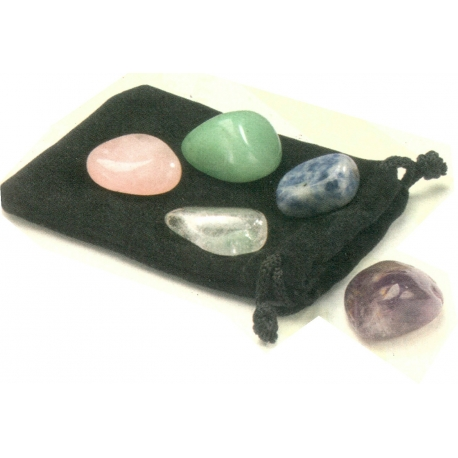 Ensemble de 5 pierres de bien être
