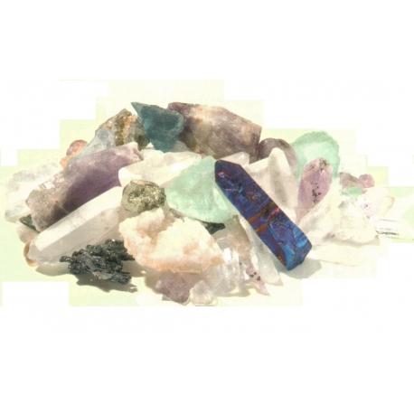 Collection de pierres brutes