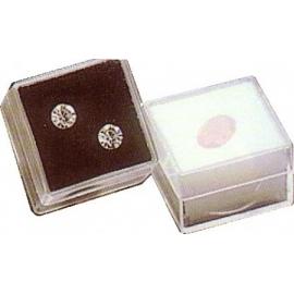 Boite carrée avec mousse blanche 25x25x13 mm