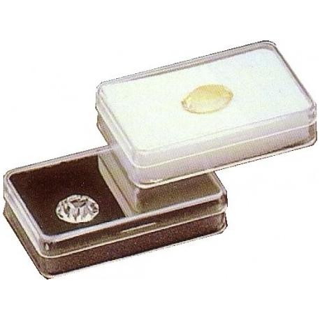 Boite rectangulaire avec mousse blanche (53x33x12 mm)