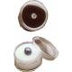 Boite ronde avec mousse noire  (diamètre 27 mm)