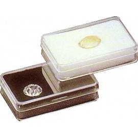 Boite rectangulaire avec mousse noire (53x33x12 mm)