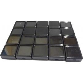 Boites noire dessus en verre (30x30x17mm) par lot de 20