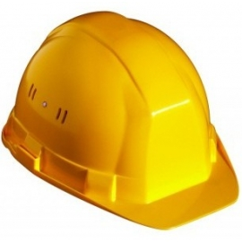 Casque de protection jaune