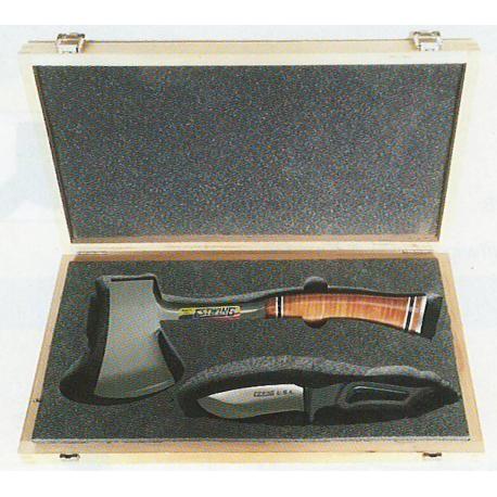 Coffret cadeau hache et couteau