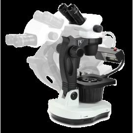 Microscope Euromex trinoculaire avec tourelle adaptée pour la gemmologie