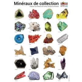 Poster mineraux de collection sur fond blanc