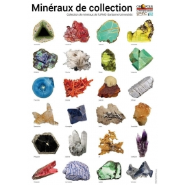 Poster mineraux de collection