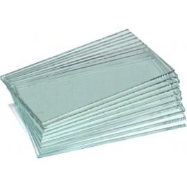 10 lames de verre pour tête, pour lames minces