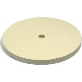 Feutre blanc Ø150 x 10 mm, alésage 1/2 pouce