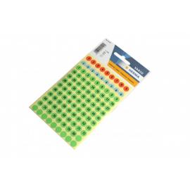 Chiffres autocollants ronds 8 mm 1/160 de 3 couleurs