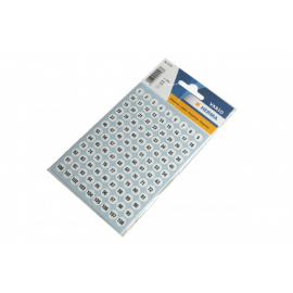 Chiffres autocollants ronds 8 mm blancs