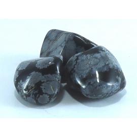 Obsidienne Mouchetée roulée pour la lithotherapie