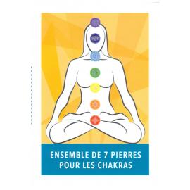 Ensemble de 7 pierres pour les chakras