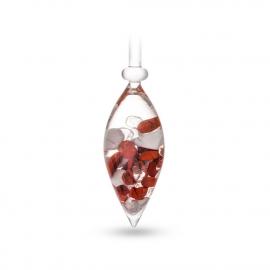 Mélange Forme et souplesse (jaspe rouge - magnésite - cristal de roche)