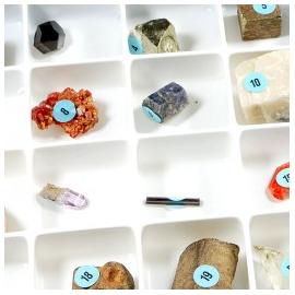 Collection de 50 cristaux naturels
