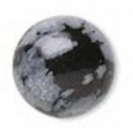 Obsidienne mouchetée 6 mm