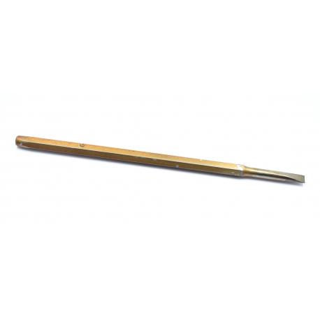 Burin plat en carbure de tungstène 6 mm