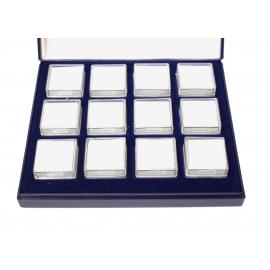 Coffret avec 12 boites carrées 12 boites SE02 de 25x25mm