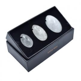 Coffret oeufs de Yoni en cristal de roche