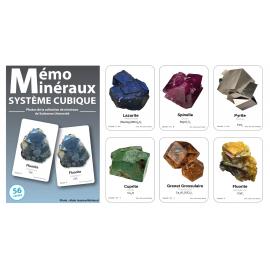 Jeu mémo minéraux systèmes cubiques