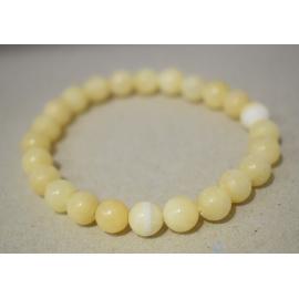 Bracelet en perles de Aragonite