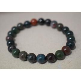 Bracelet en perles de Héliotrope - Jaspe Sanguin