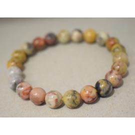 Bracelet en perles de Jaspe Crazy lace