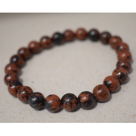 Bracelet en perles d'Obsidienne Mahony