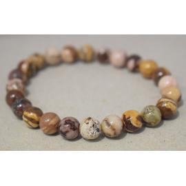 Bracelet en perles de Jaspe Capucino