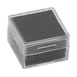 Boite carrée avec mousse noire 25x25x13 mm