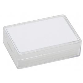 Boite rectangulaire avec mousse blanche (80x55x20 mm)