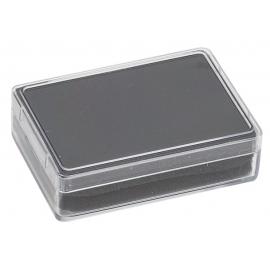Boite rectangulaire avec mousse noire (80x55x20 mm)