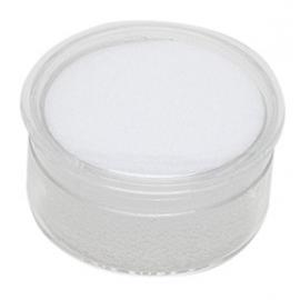 Boite ronde avec mousse blanche (diamètre 27 mm)