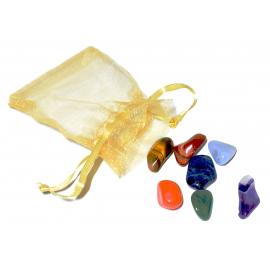 Recharge de 5 ensembles de 7 pierres pour les chakras