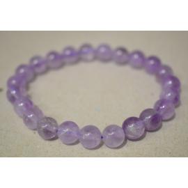 Bracelet en perles d'Améthyste claire